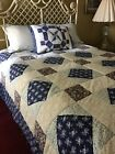Primitive+King+size+quilted+bedspread.+So+charming.+