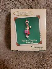 Hallmark Bunny Skates Maxine Figure Holiday Christmas 2003 Miniature Ornament