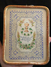 Canivet Image Religieuse Communion Antique French Holy Lace Card