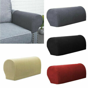 2Pcs Removable Arm Stretch Sofa Couch Chair Protector Armchair Covers Armrest