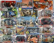 STAR WARS FIGURE AND VEHICLE PACKS CLONE WARS - MISB - SEE PHOTOS!