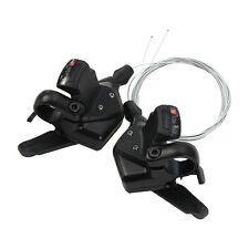 TOMOUNT Bike Shifter Levers Set 3 x 8 Speed Pair With Shift Cable Black