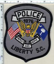 Liberty Police (South Carolina) Shoulder Patch new from 1989