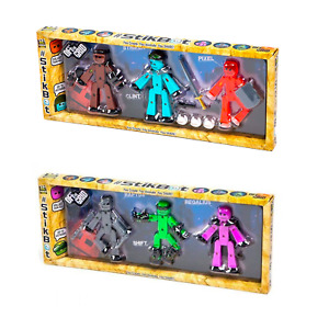 Stikbot Off The Grid 3 Pack Action Figure Toy