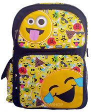 "EMOJI 16"" Large School Backpack Book Bag School bag Happy Faces"