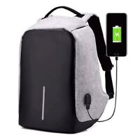 USB Charging Anti-Theft Mens Womens Backpack Laptop Notebook Travel School Bag