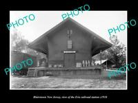 OLD LARGE HISTORIC PHOTO OF BLAIRSTOWN NEW JERSEY, ERIE RAILROAD STATION c1910 2