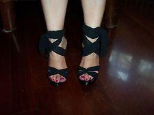 scarpe da donna sandali decoltè con lacci Miss Sixty,colore nero,numero 36