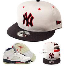 New Era York Yankees Snapback Cappello Match Air Jordan 5 Midnight Navy Rosso