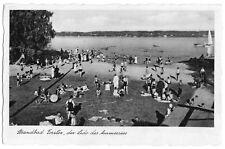 AK, Schorndorf am Ammersee, Strandbad Forster, belebt, 1935