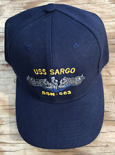 USS Sargo SSN-583 Ball Cap Embroidered Submarine Dolphins Veteran Navy Sub Hat