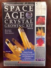 NEW Space Age Crystal Growing Kit: 4 Crystals (Citrine, Ruby, Amber)