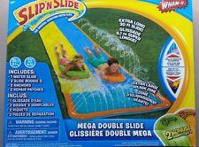 New SLIP'N'SLIDE Mega Double Slide Deluxe BACKYARD WATER RACER 6.1 m Slides