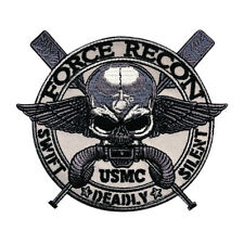 Marine Force Recon USMC Military Marine Swift Deadly Silent Hook Patch (MTB25)