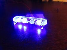 1/24 Flashing ALL BLUE LED Low Profile Lightbar for Custom Police Diecast Models