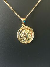 Medusa Gold plated pendant and 24in chain