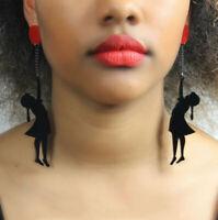 1 Pair Women Acrylic Resin Girl Earrings Boho Dangle Drop Stud Earring