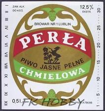 Poland Brewery Lublin Perła Beer Label Bieretikett Etiqueta Cerveza lu79.1