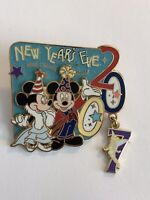 WDW New Years Eve 2007 Mickey Minnie And Tinker Bell - Dangle Disney Pin (B5)