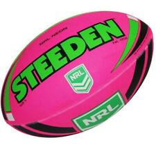 STEEDEN Neon NRL Rugby League Football - Size 5 in Pink/lime