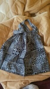 Blue and Black African Print Skirt