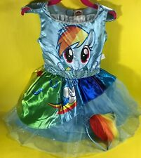 HASBRO MY LITTLE PONY RAINBOW DASH FANCY DRESS UP PLAY COSTUME LOT TODDLER 3T 4T