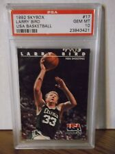 1992 Skybox #17 - LARRY BIRD - USA BASKETBALL - PSA 10 Gem Mint - Celtics