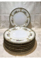 """Imperial China Porcelain Floral 9.75"""" Dinner Plates Made in Japan,Set Of 8"""