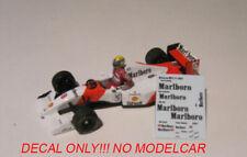 Decal Mclaren MP4/8 1/43 Senna Hakkinen Andretti minichamps