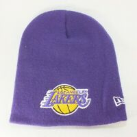 NBA Los Angeles Lakers Cuffless Stitched Purple Hat Cap Beanie by New Era