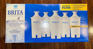 Brita Pitcher Replacement Water Filters Cartridges - Box of 5 Pack Filters New