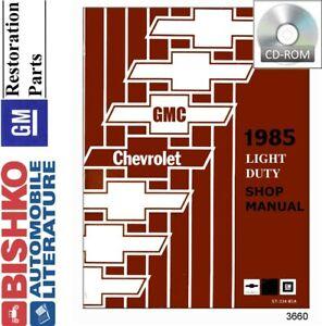 Repair Manuals Literature For 1985 Chevrolet C10 For Sale Ebay