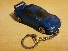 Diecast Subaru Impreza 228 STi Blue Toy Car Keyring