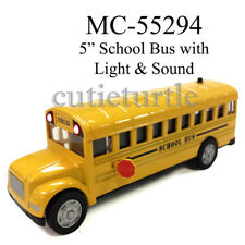 """5"""" Long School Bus Diecast Toy Car with Lights & sound 55294 Yellow"""