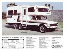 c1979 Toyota Wanderlust Motorhome Camper RV 1-page Original Car Sales Brochure