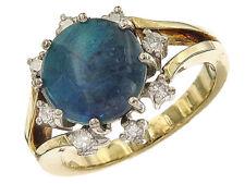 Ring Opal Diamanten 585er Gelb- und Weißgold