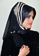DRP73 Draperie Chiffon Fertig Kopftuch Hazir Türban Sal Tesettür Hijab Khimar