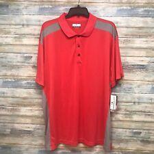 Grand Slam MEN'S Golf Polo Shirt Size LT On Course Performance Light Red Gray