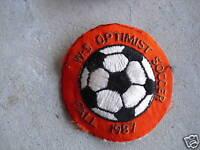 VINTAGE Uniform Patch Embroidered WS Optimist Soccer