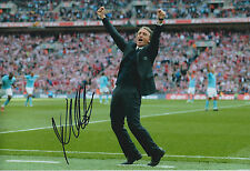 Roberto MANCINI SIGNED Autograph 12x8 Photo AFTAL COA Man City Premier League