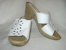 SPRING STEP White Leather Wedge Sandal Sz 10.5 US / 41 EUR Excellent Condition!!