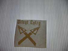 SILENT ENTRY  VINYL STICKER