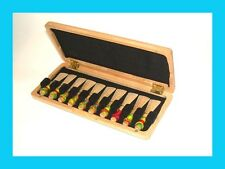 * Bassoon Reed Case, Solid Wood, For 10 Reeds. Beautiful Nature Finish