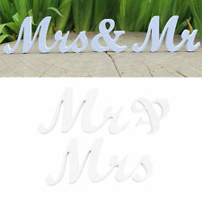New Mr & Mrs Letters Wooden Standing Top Table Wedding Sign Decoration Party