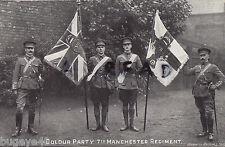 Oficial Grupo 7th Batallón Manchester Regimiento Color Party Regimiento Colores