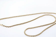 Authentic Tiffany & Co. 14k Yellow Gold Russian Weave Wheat Chain Necklace 30""