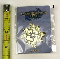 New & Sealed Monster Hunter Rise Kamura Mark Enamel Pin ONLY from Collectors Ed.