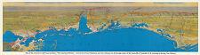 "1926 Wall Map Gulf Coast Territory ""The American Riviera"" Wall Art Poster Print"