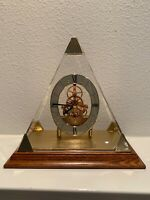 Seiko Quartz Clock Pyramid Skeleton with Base QXG119G