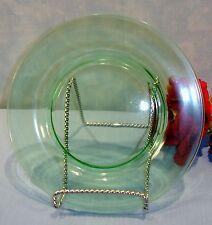 Green Depression Glass Dessert Plates, 7.5 inches